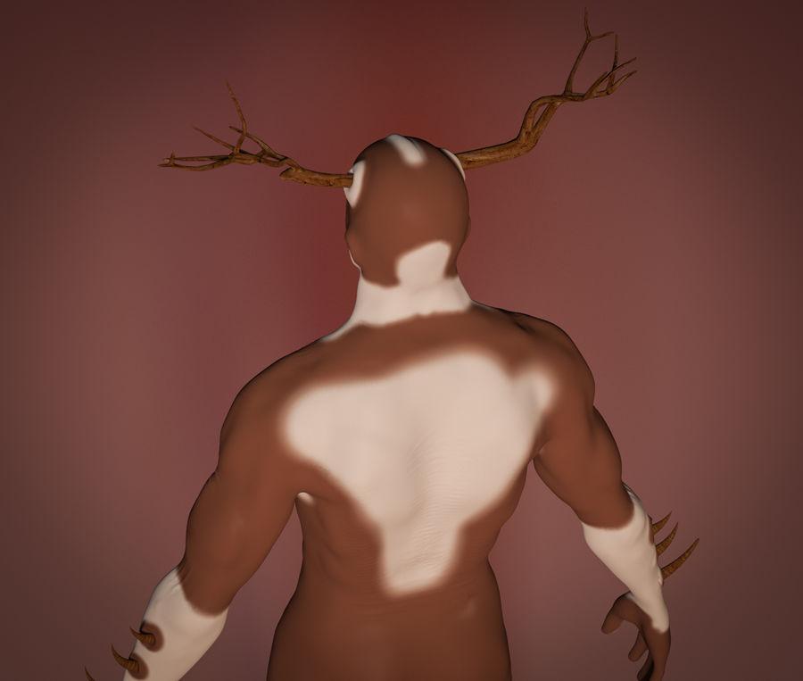 Super-héros Moose man royalty-free 3d model - Preview no. 5