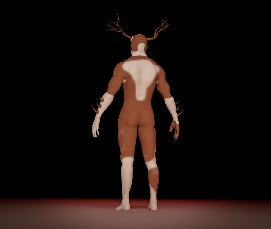 Super-héros Moose man royalty-free 3d model - Preview no. 4