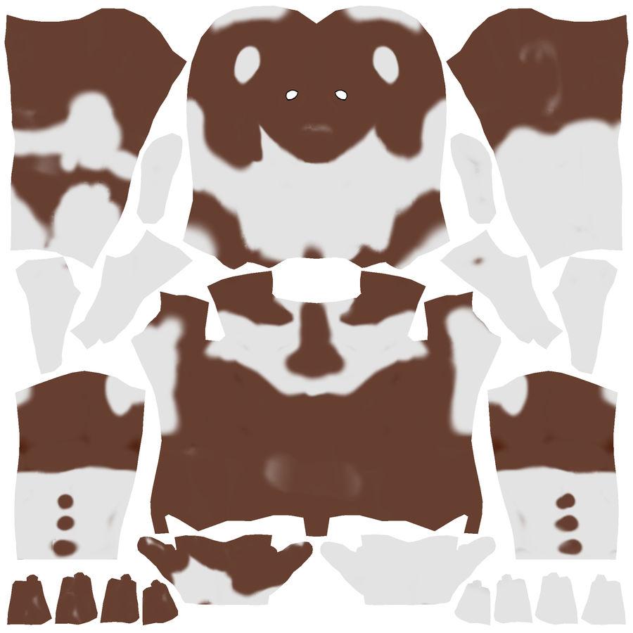 Super-héros Moose man royalty-free 3d model - Preview no. 8