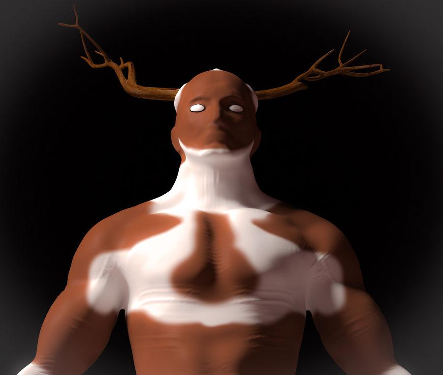 Super-héros Moose man royalty-free 3d model - Preview no. 2
