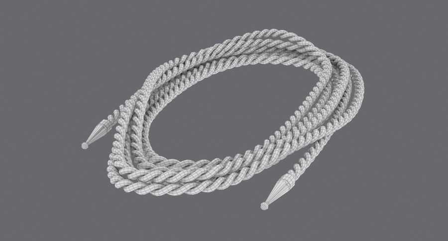 Golden Lasso of Truth (Coiled) royalty-free 3d model - Preview no. 10