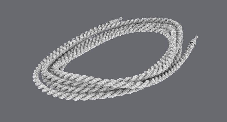 Golden Lasso of Truth (Coiled) royalty-free 3d model - Preview no. 12