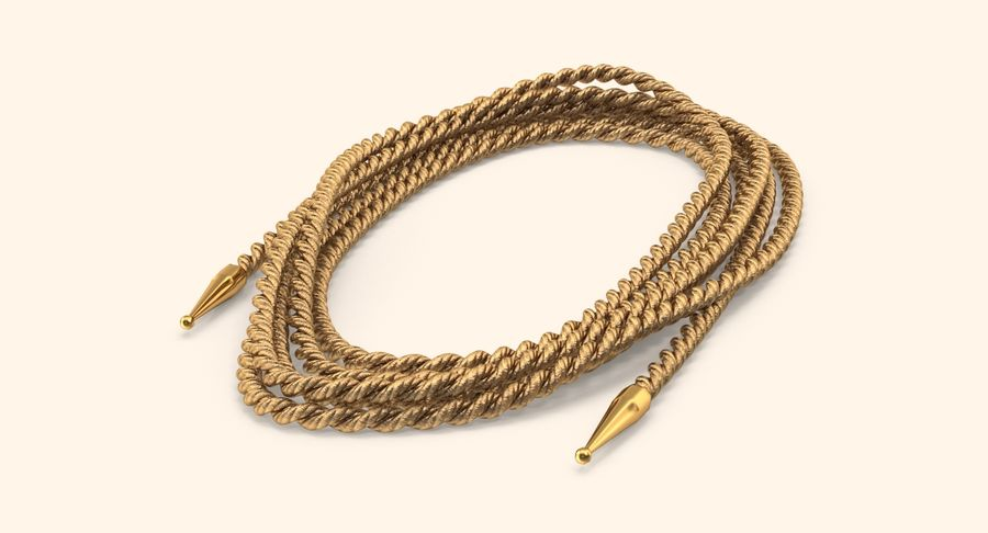 Golden Lasso of Truth (Coiled) royalty-free 3d model - Preview no. 3