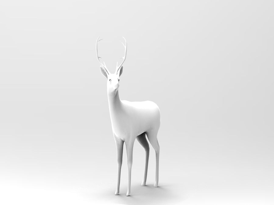 deer rigged royalty-free 3d model - Preview no. 14