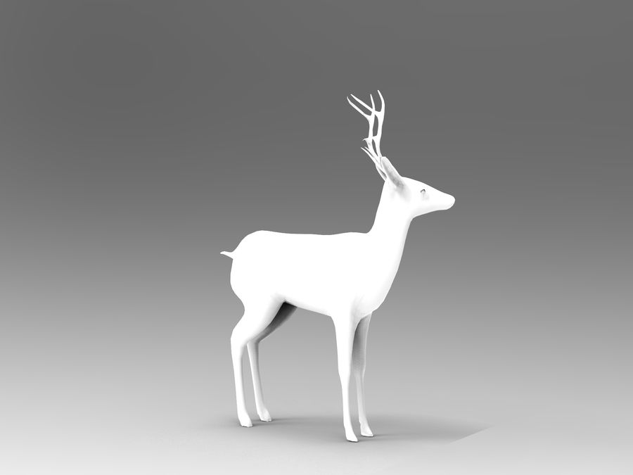 deer rigged royalty-free 3d model - Preview no. 15