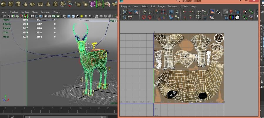 deer rigged royalty-free 3d model - Preview no. 21