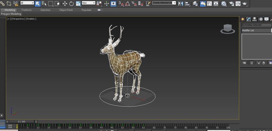 deer rigged royalty-free 3d model - Preview no. 22