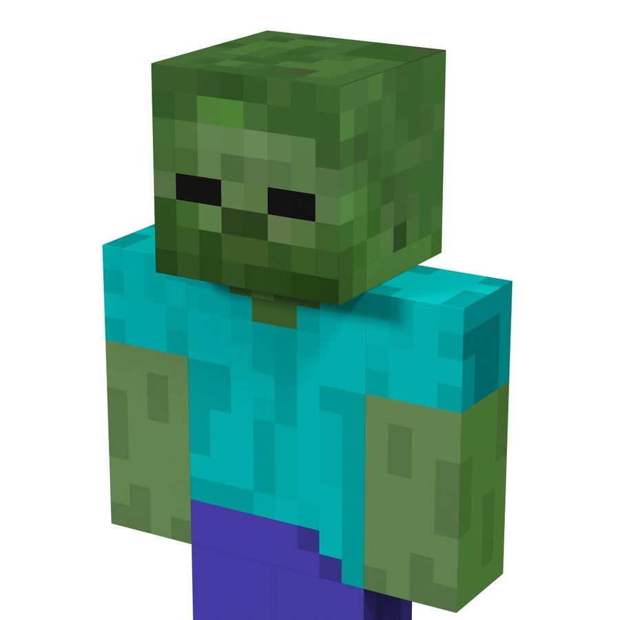 Minecraft Zombie Modelo 11D $11 - .c11d .ma .max .obj .fbx .11ds - Free11D