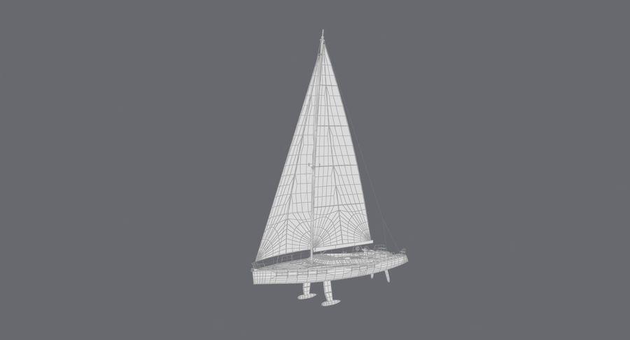 Nautical Sailboat royalty-free 3d model - Preview no. 18