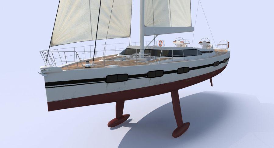 Nautical Sailboat royalty-free 3d model - Preview no. 7