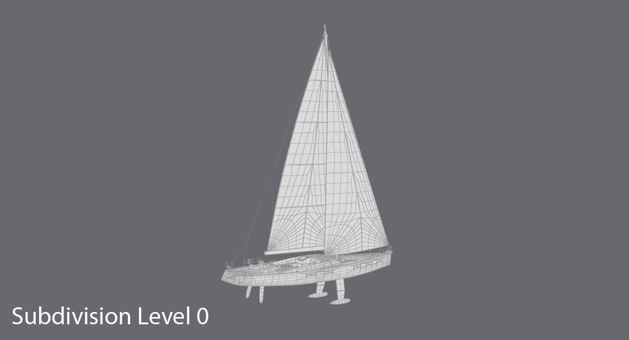 Nautical Sailboat royalty-free 3d model - Preview no. 16