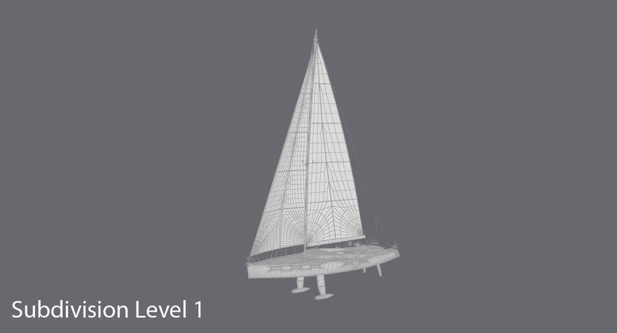 Nautical Sailboat royalty-free 3d model - Preview no. 13
