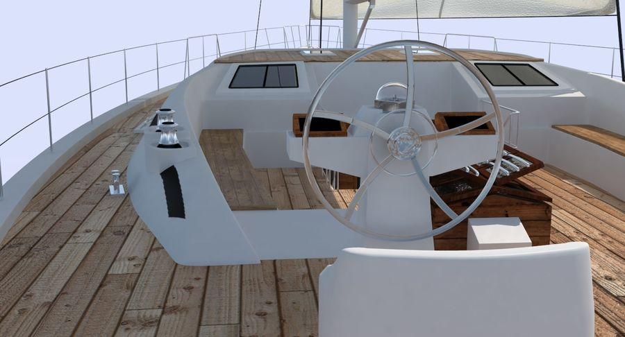 Nautical Sailboat royalty-free 3d model - Preview no. 9