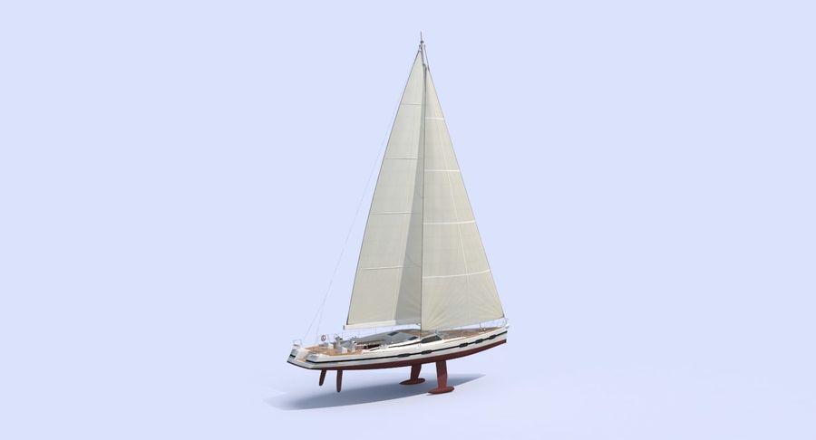 Nautical Sailboat royalty-free 3d model - Preview no. 4