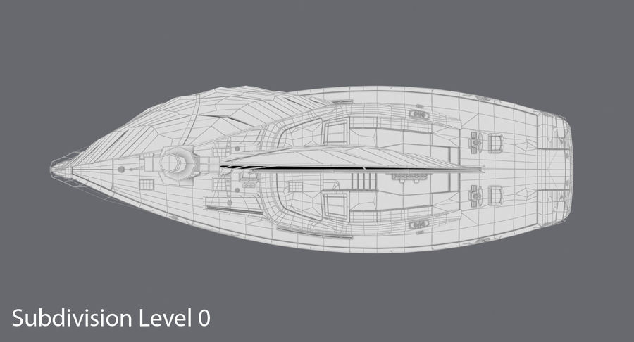 Nautical Sailboat royalty-free 3d model - Preview no. 14