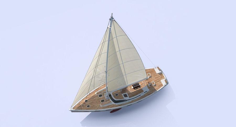 Nautical Sailboat royalty-free 3d model - Preview no. 5