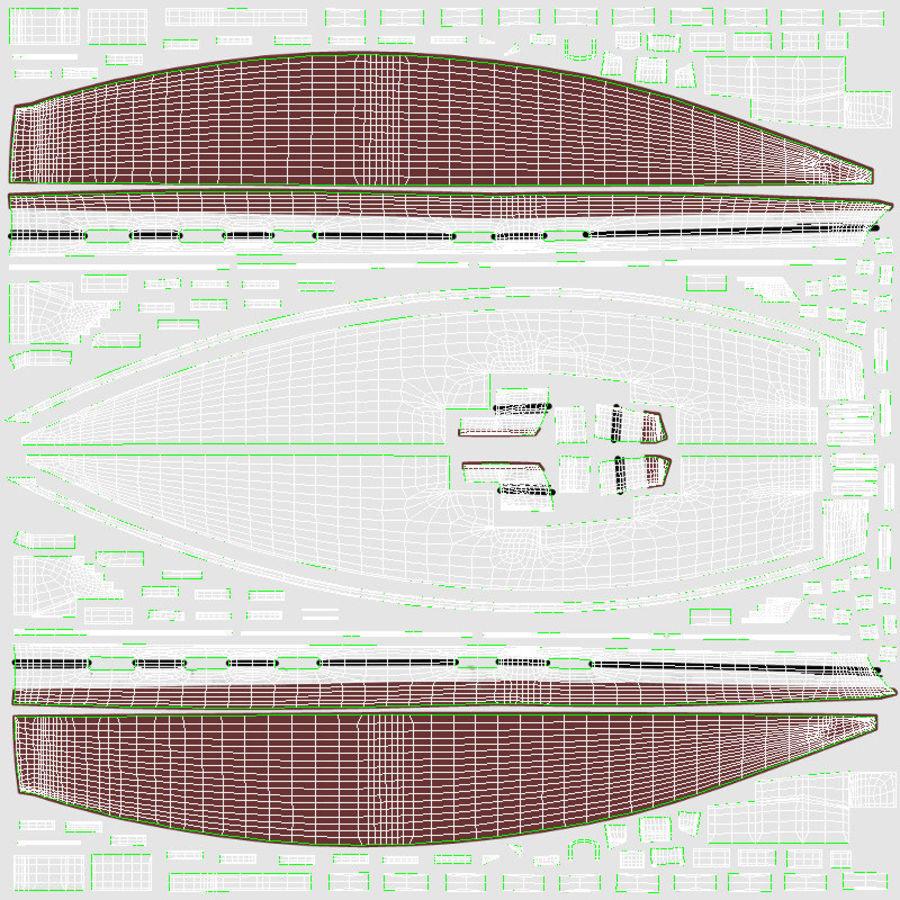 Nautical Sailboat royalty-free 3d model - Preview no. 21