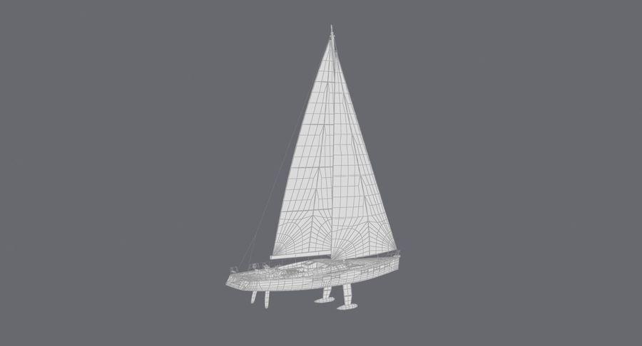 Nautical Sailboat royalty-free 3d model - Preview no. 20