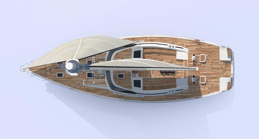 Nautical Sailboat royalty-free 3d model - Preview no. 6
