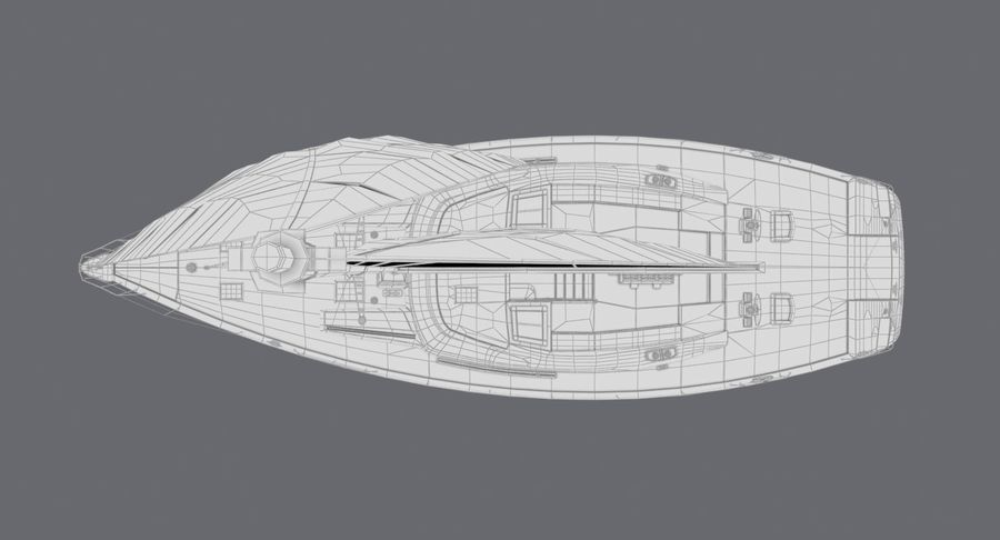 Nautical Sailboat royalty-free 3d model - Preview no. 19