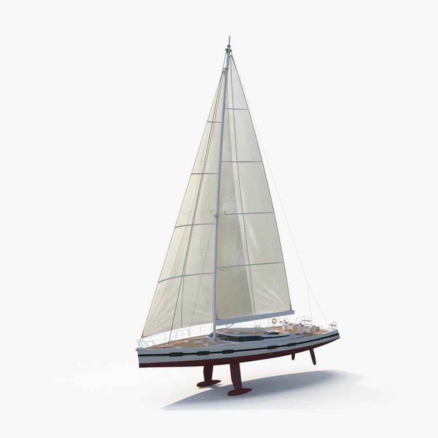 Nautical Sailboat royalty-free 3d model - Preview no. 1