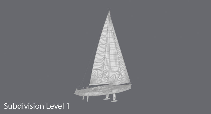 Nautical Sailboat royalty-free 3d model - Preview no. 17