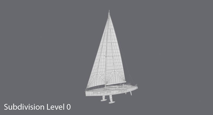 Nautical Sailboat royalty-free 3d model - Preview no. 12