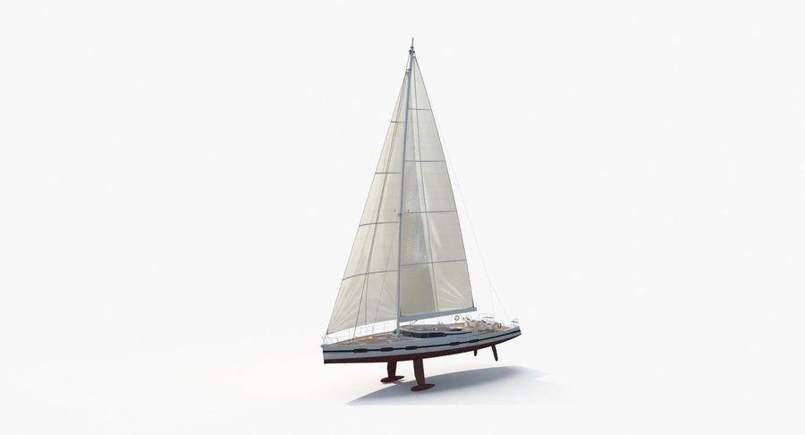 Nautical Sailboat royalty-free 3d model - Preview no. 2