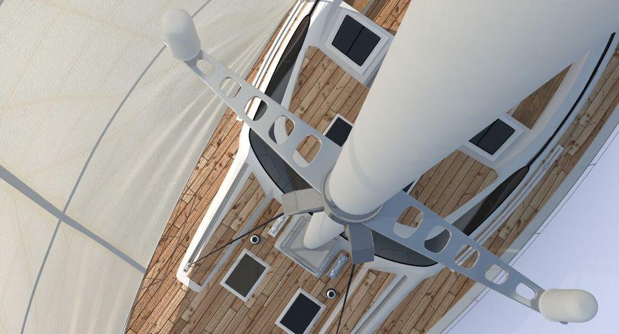 Nautical Sailboat royalty-free 3d model - Preview no. 10