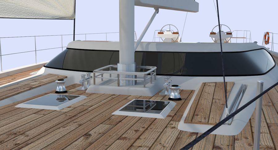 Nautical Sailboat royalty-free 3d model - Preview no. 11