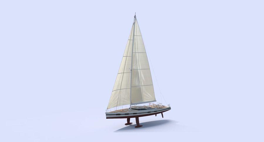 Nautical Sailboat royalty-free 3d model - Preview no. 3