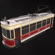 Godarville old tram 3d model