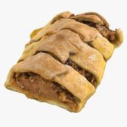 Apple Baked Piece of Pie 3d model