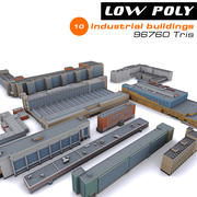 10 budynków przemysłowych 3d model