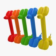 Balloon Giraffes Set 3d model