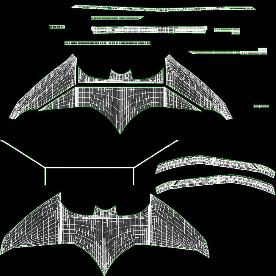 Batarang royalty-free 3d model - Preview no. 16