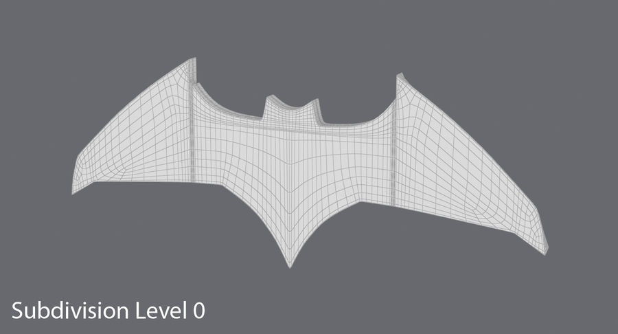 Batarang royalty-free 3d model - Preview no. 12