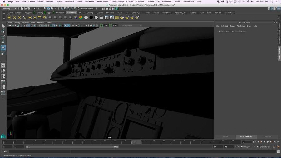 Cockpit d'avion royalty-free 3d model - Preview no. 8