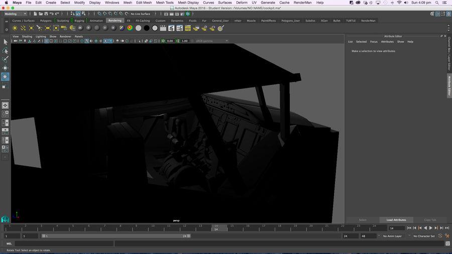 Cockpit d'avion royalty-free 3d model - Preview no. 4