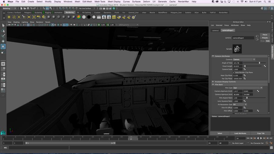 Cockpit d'avion royalty-free 3d model - Preview no. 20