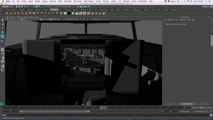 Cockpit d'avion royalty-free 3d model - Preview no. 14
