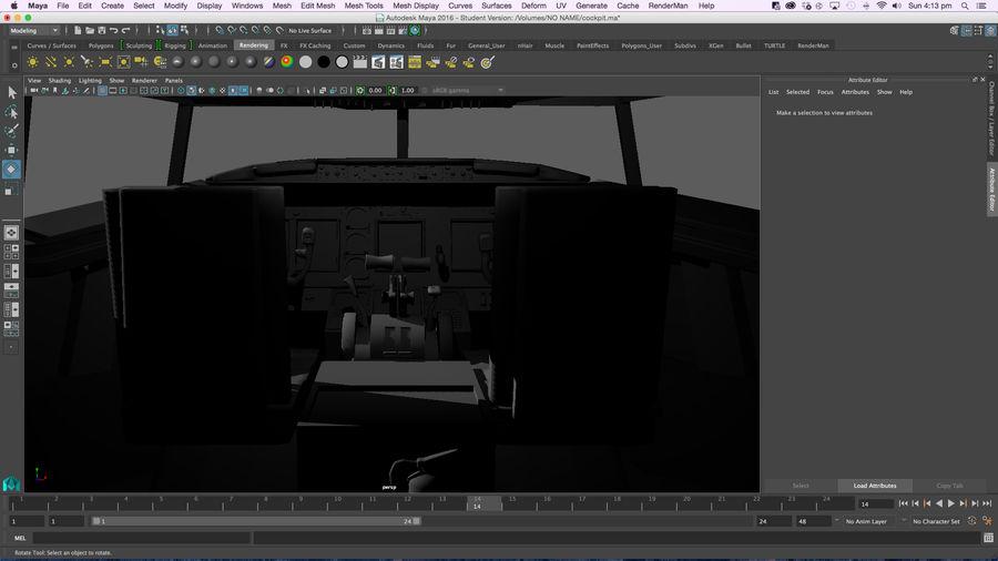 Cockpit d'avion royalty-free 3d model - Preview no. 12