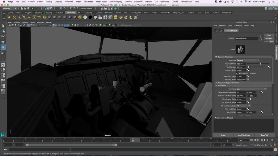 Cockpit d'avion royalty-free 3d model - Preview no. 19