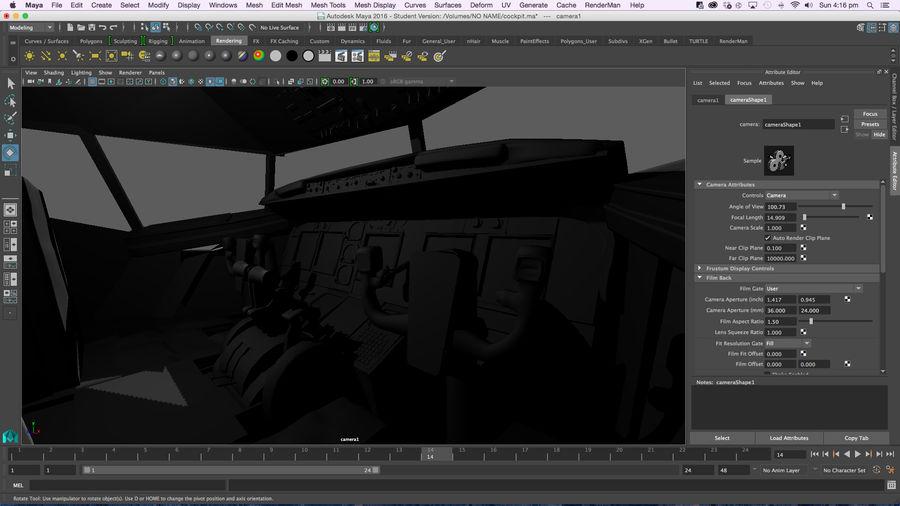 Cockpit d'avion royalty-free 3d model - Preview no. 18