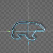 cookie cutter bear 3d model