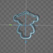 cookie cutter monkey 3d model