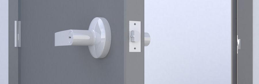 Door-008 royalty-free 3d model - Preview no. 5