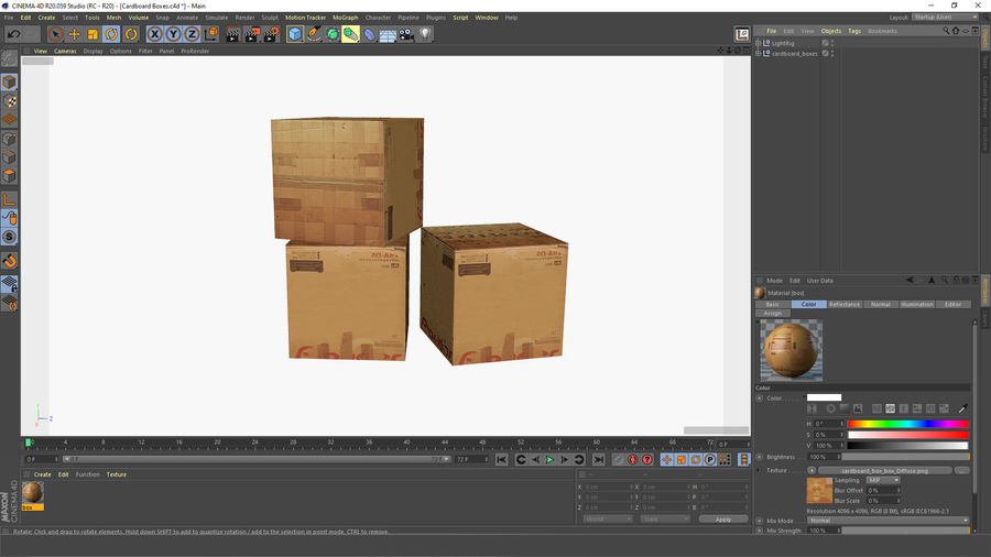 Cardboard Boxes royalty-free 3d model - Preview no. 10