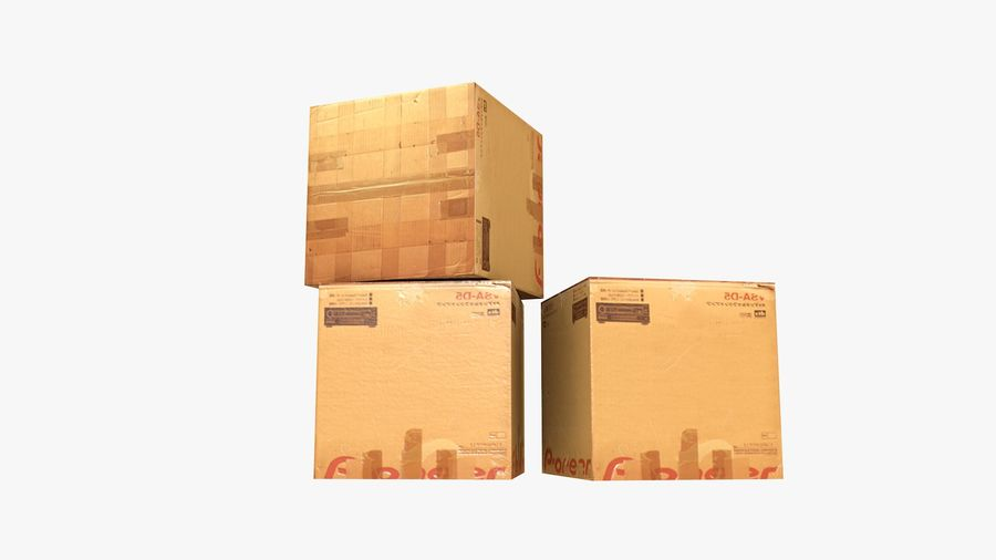 Cardboard Boxes royalty-free 3d model - Preview no. 8