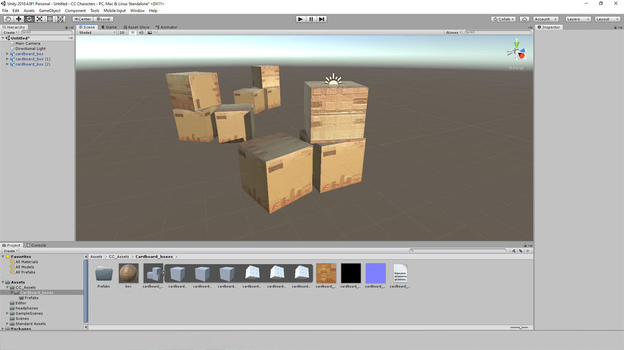 Cardboard Boxes royalty-free 3d model - Preview no. 9